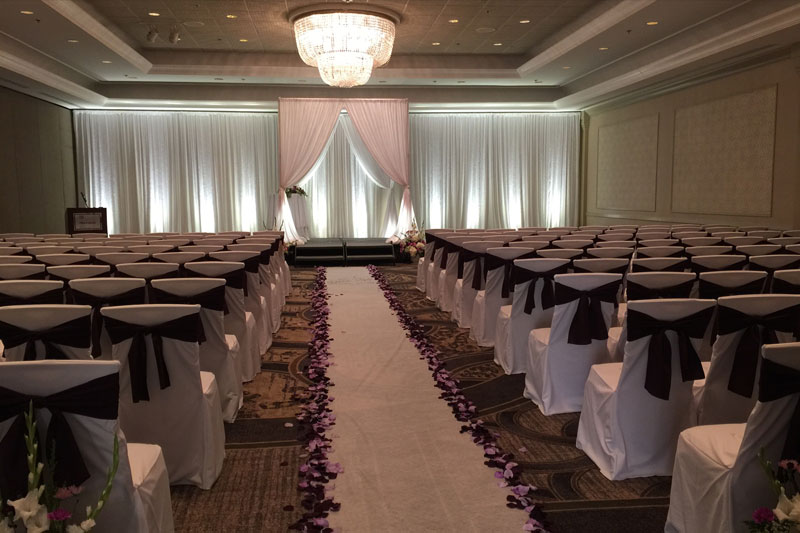 Chair Covers available in varied sizes of Poly Solid, Satin and Spandex. Sashes available in varied colors of Poly Solid, Satin, Organza & Miscellaneous Textures.